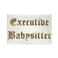 Executive Babysitter Rectangle Magnet