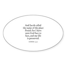GENESIS 32:30 Oval Decal