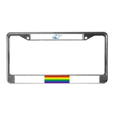 Rainbow Raynbow License Plate Frame