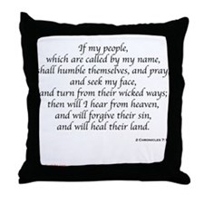 2 Chronicles 7:14 Throw Pillow