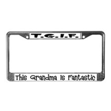 Fantastic Grandma License Plate Frame
