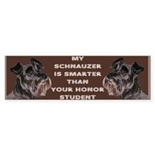min schnauzer honor sticker Bumper Bumper Sticker