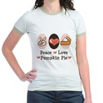 Peace Love Pumpkin Pie Jr. Ringer T-Shirt