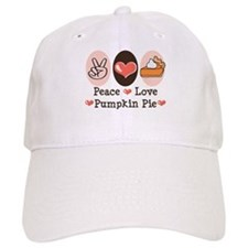 Peace Love Pumpkin Pie Baseball Cap