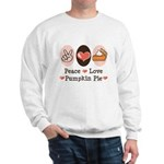 Peace Love Pumpkin Pie Sweatshirt