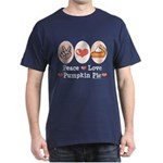 Peace Love Pumpkin Pie Dark T-Shirt