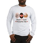 Peace Love Pumpkin Pie Long Sleeve T-Shirt