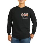 Peace Love Pumpkin Pie Long Sleeve Dark T-Shirt