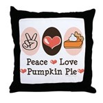 Peace Love Pumpkin Pie Throw Pillow