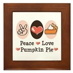 Peace Love Pumpkin Pie Framed Tile