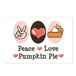 Peace Love Pumpkin Pie Postcards (Package of 8)