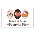 Peace Love Pumpkin Pie Rectangle Sticker