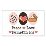 Peace Love Pumpkin Pie Rectangle Sticker 50 pk)