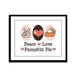 Peace Love Pumpkin Pie Framed Panel Print