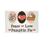 Peace Love Pumpkin Pie Rectangle Magnet