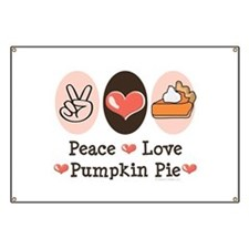 Peace Love Pumpkin Pie Banner