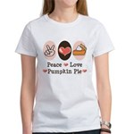 Peace Love Pumpkin Pie Women's T-Shirt