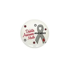 Diabetes Awareness Month 1.1 Mini Button (10 pack)