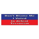 Defeat Terrorism Bumper Sticker (50 pk)