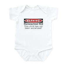 Warning! Homeschool Kid Infant Bodysuit