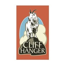 Mountain Goat Cliffhanger Rectangle Sticker 10 pk