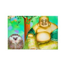 'Lulu and the Laughing Budhha' Rectangle Magnet