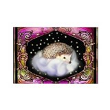 'Hedgie on a Cloud' Rectangle Magnet