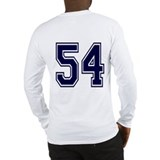 NUMBER 54 BACK Long Sleeve T-Shirt