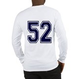 NUMBER 52 BACK Long Sleeve T-Shirt