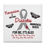 Diabetes Awareness Month 2.1 Tile Coaster