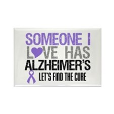 Someone I Love Has Alzheimer's Rectangle Magnet (1