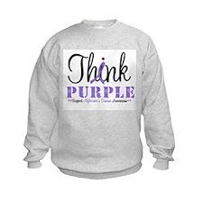 Think Purple Alzheimer's Sweatshirt