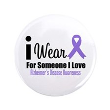 "I Wear Purple (Someone I Love) 3.5"" Button"