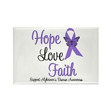 Alzheimer's Hope Rectangle Magnet (10 pack)