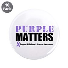 "PurpleMatters-Alzheimer's 3.5"" Button (10 pack)"