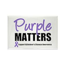 PurpleMatters-Alzheimer's Rectangle Magnet