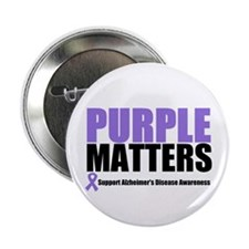"PurpleMatters-Alzheimer's 2.25"" Button (10 pack)"
