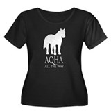 AQHA All The Way Women's Plus Size Scoop Neck Dark