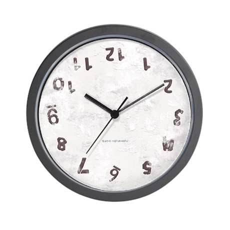 Upside Down Grunge Wall Clock