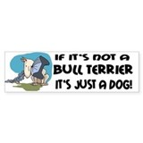 Bullterrier Bumper Car Sticker