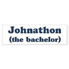 Johnathon the bachelor Bumper Bumper Sticker