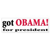 Got Obama for President Bumper Bumper Sticker