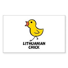 Lithuanian Chick Rectangle Decal