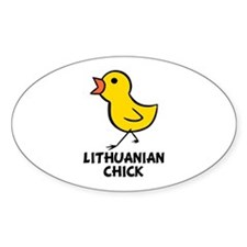 Lithuanian Chick Oval Decal