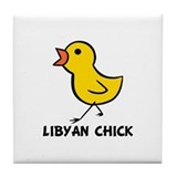 Libyan Chick Tile Coaster