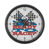 Go Kart Ready to Race Large Wall Clock