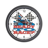 Go Kart Ready to Race Wall Clock