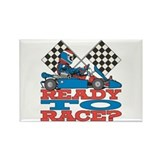 Go Kart Ready to Race Rectangle Magnet (10 pack)