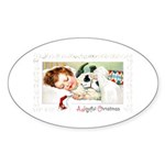 Christmas Gift Dreams Oval Sticker (10 pk)