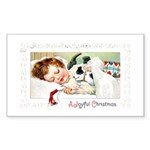 Christmas Gift Dreams Rectangle Sticker